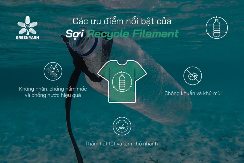 Các ưu điểm nổi bật của sợi Recycle Filament