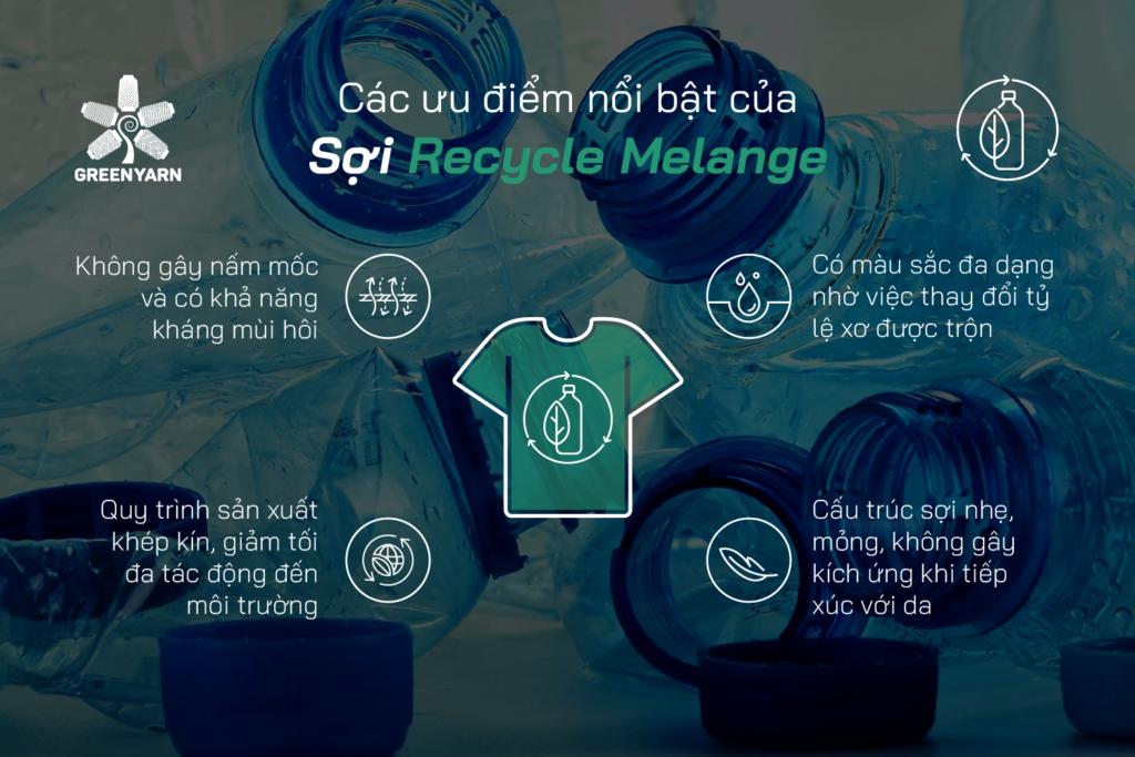 Các ưu điểm của sợi Recycle Melange
